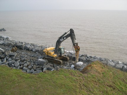 Excavator at Naze Crag Walk