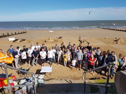 Sandcastle building competition