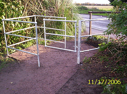 Image of new barriers installed at Village Green, Gt Holland