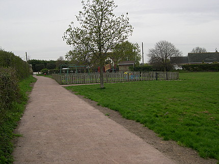 Image of new footway to children's play area, Gt Holland