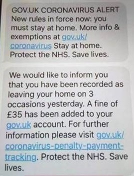 Screenshot image of Scam Text Message